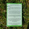 Achterkant tekst van het non-profit Corona Kwartet van Sandra Mesman