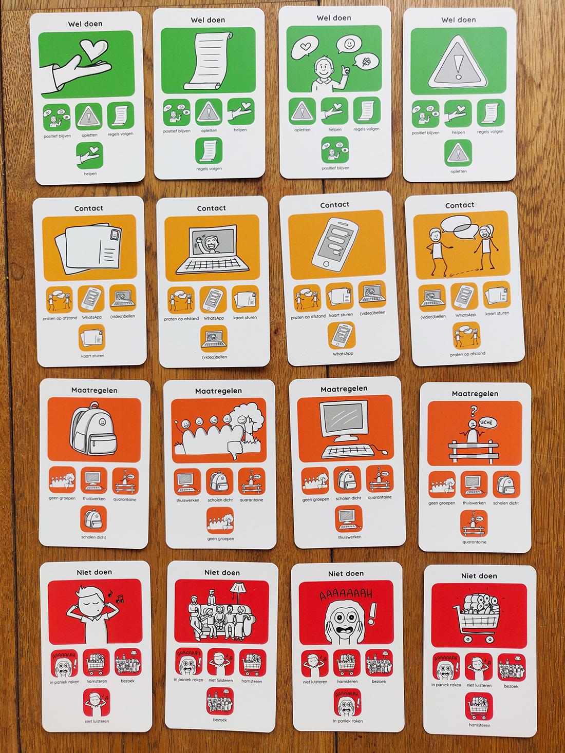 De laatste vier categorieën van het Corona Kwartet spel van Sandra Mesman