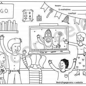 Kleurplaat op maat laten ontwerpen voor je organisatie door Sandra Mesman