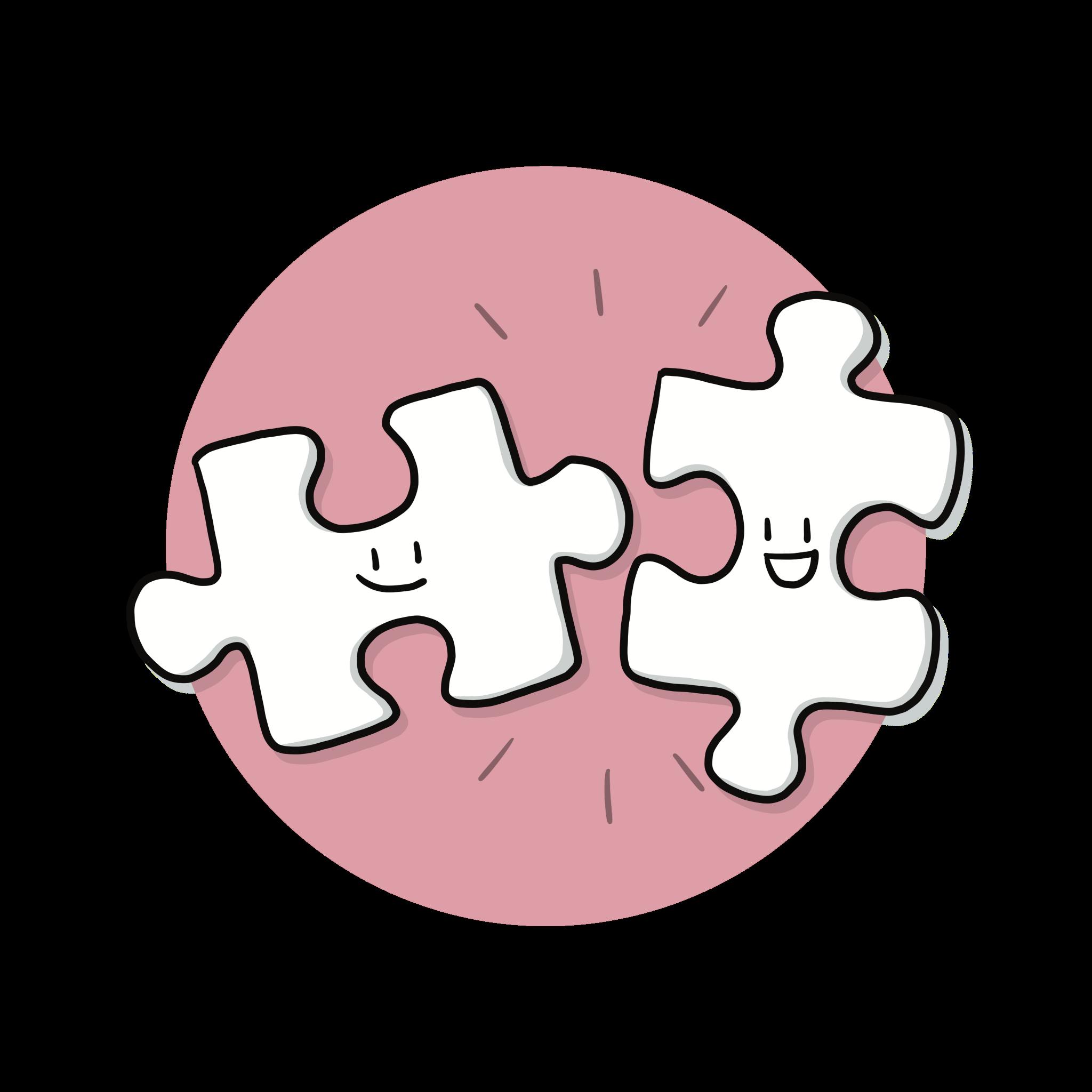 Ontwerp iconen set voor Puzzel Mij, DISC in het speciaal voortgezet onderwijs